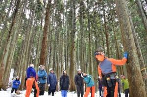 湯守の森キックオフ伐採②
