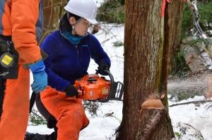 湯守の森キックオフ伐採⑩